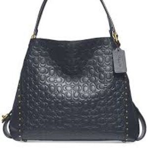 Coach Edie 31 Signature Embossed Leather Bag NWT